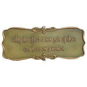 Shoes Wall Hard Resin Plaque